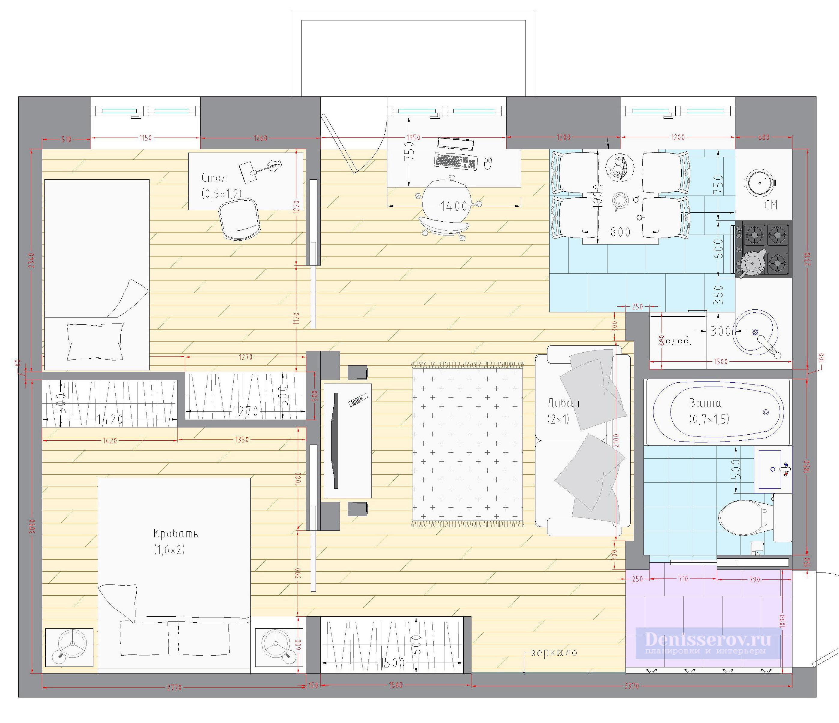 планировка-двухкомнатной-квартиры-в-хрущевке