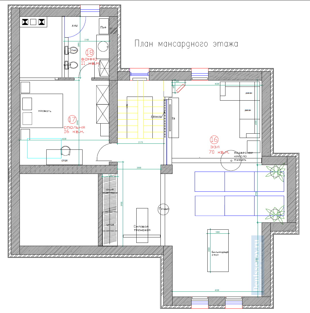 планировка 3 этажа загородного дома