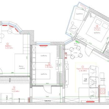 планировка 4 х комнатной квартиры 140 кв.м.