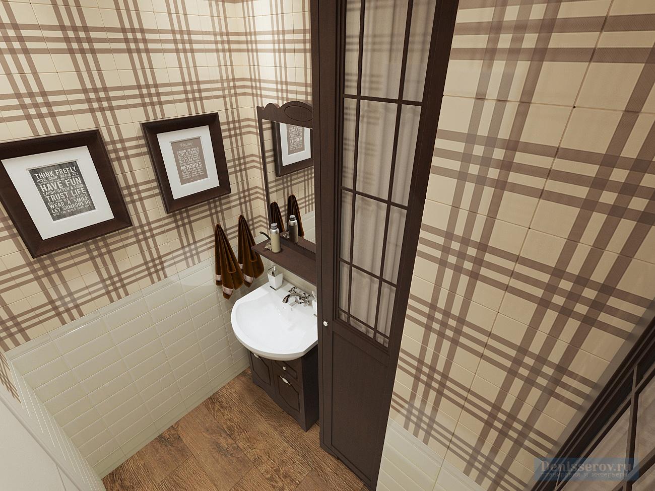 туалет гостевой в английском стиле