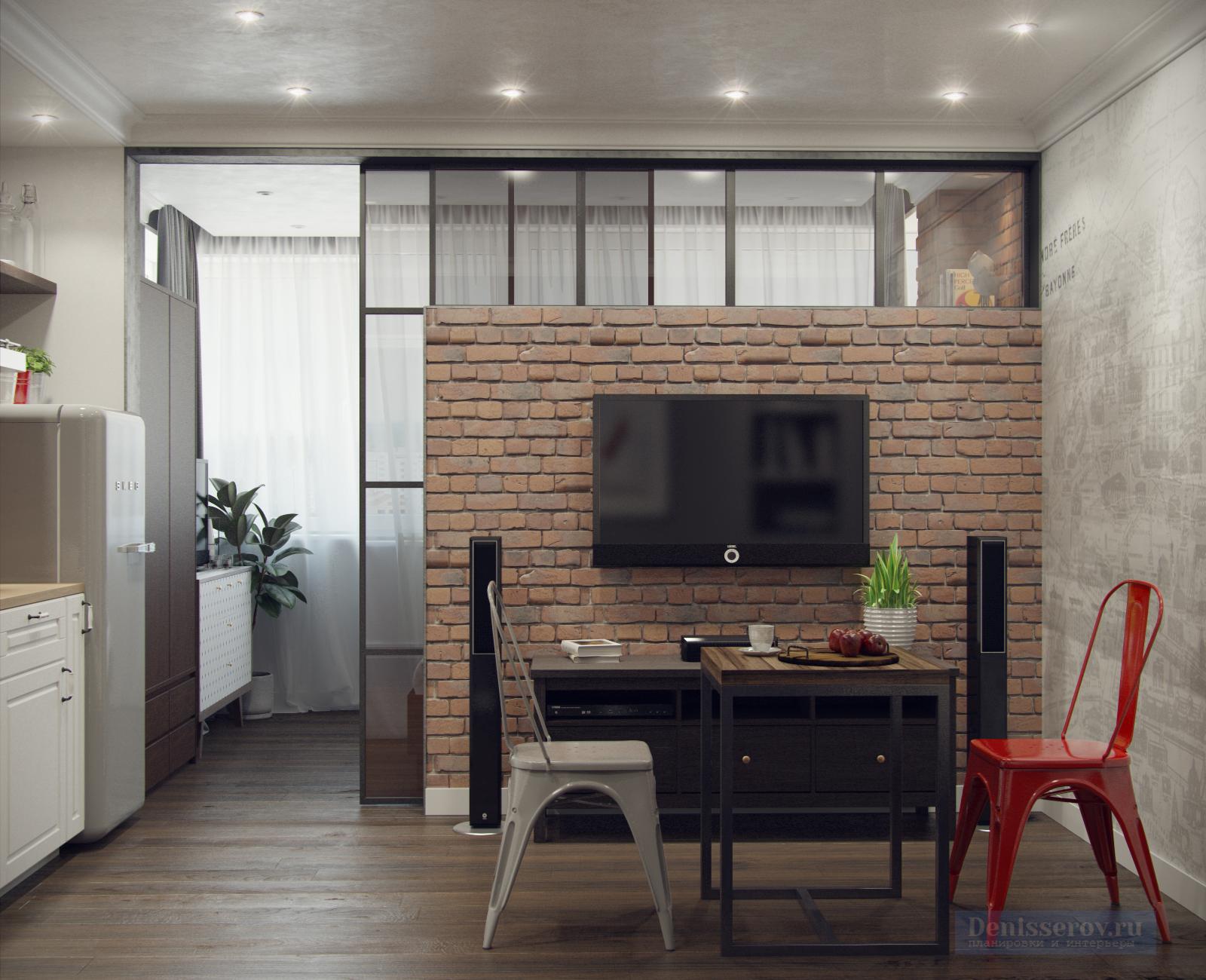 дизайн квартира-студия 30 м кв дизайн фото