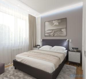 дизайн спальни 10 кв.м. в белом цвете