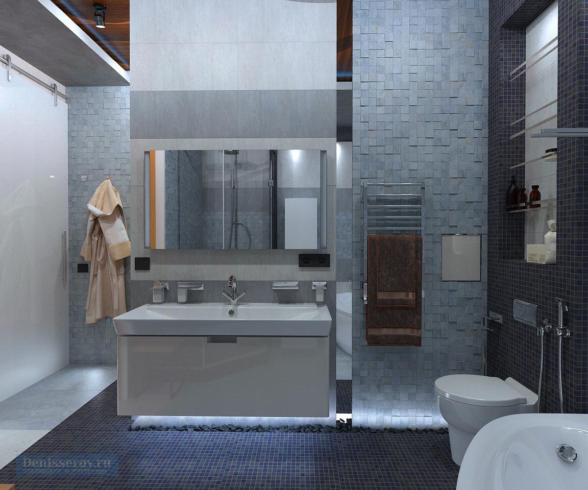 дизайн ванной 10 кв.м. с сауной