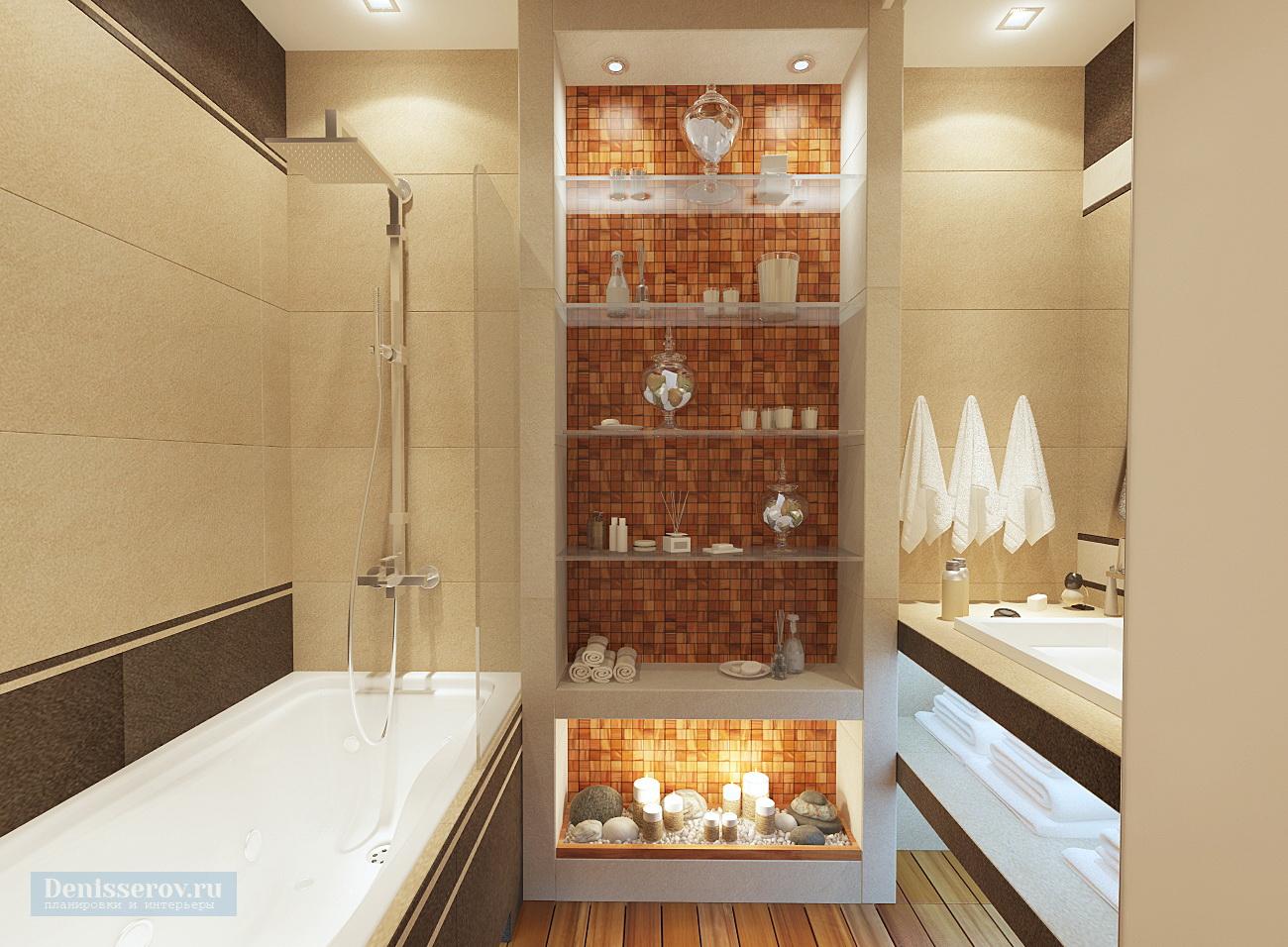 дизайн ванной 6 кв.м. с плиткой под дерево