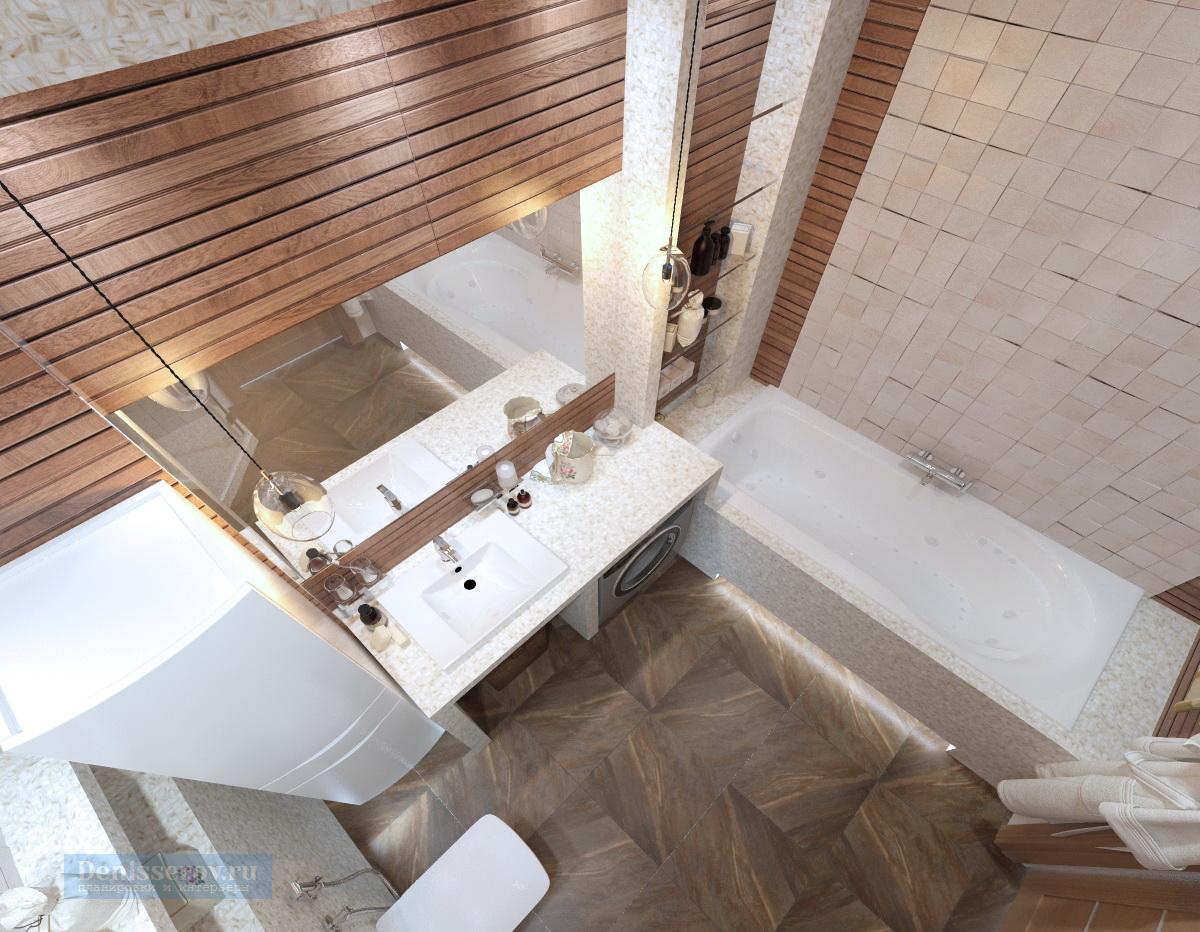 дизайн ванной 7 кв.м. в современном стиле