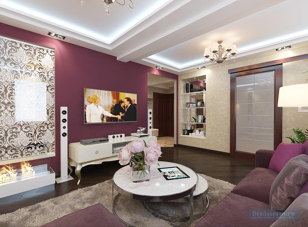 гостиная 20 кв.м. в классическом стиле