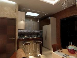 гостиная совмещенная с кухней 40 кв.м.
