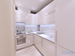 дизайн кухни 4 кв.м. в однокомнатной квартире