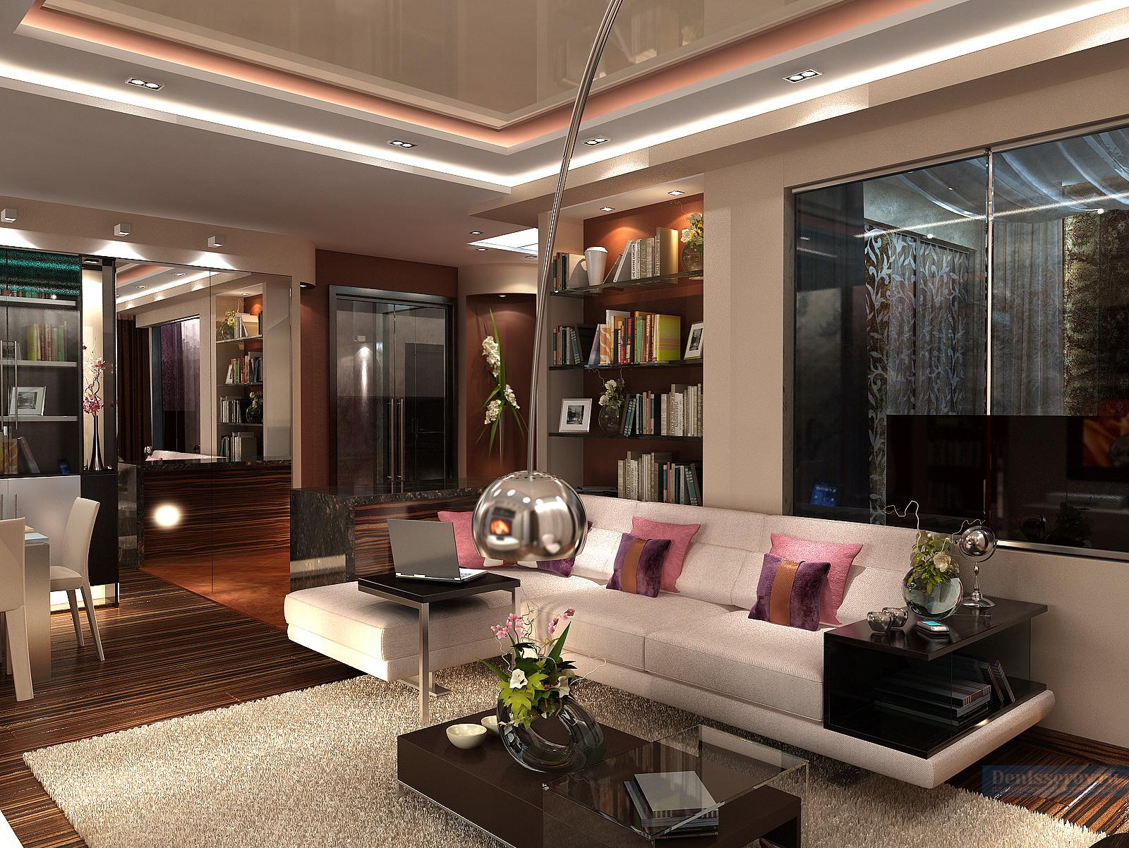 Дизайн проект однокомнатной квартиры 60 кв.м.