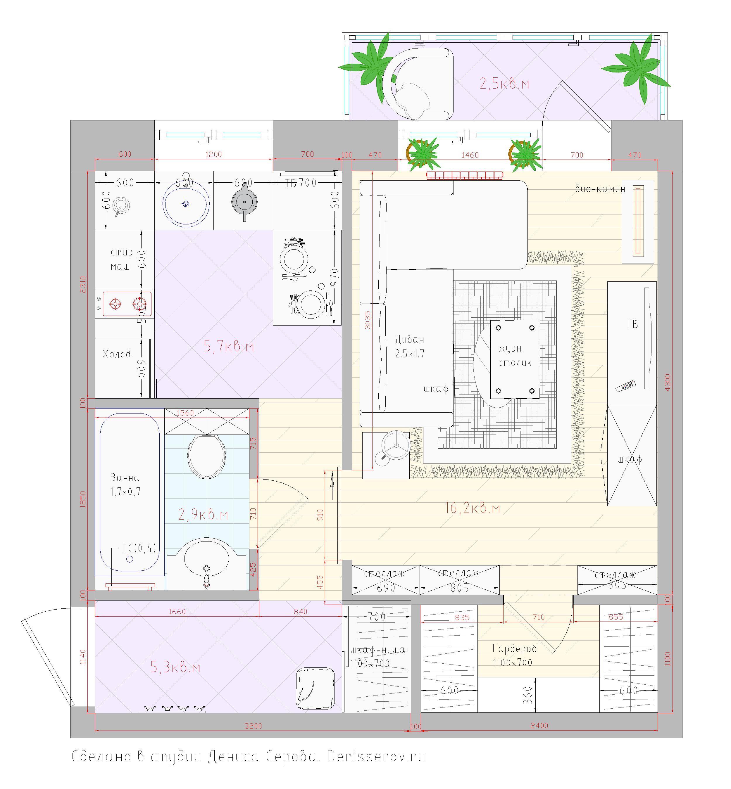 Планировки квартир дома серии II-49, примеры перепланировок