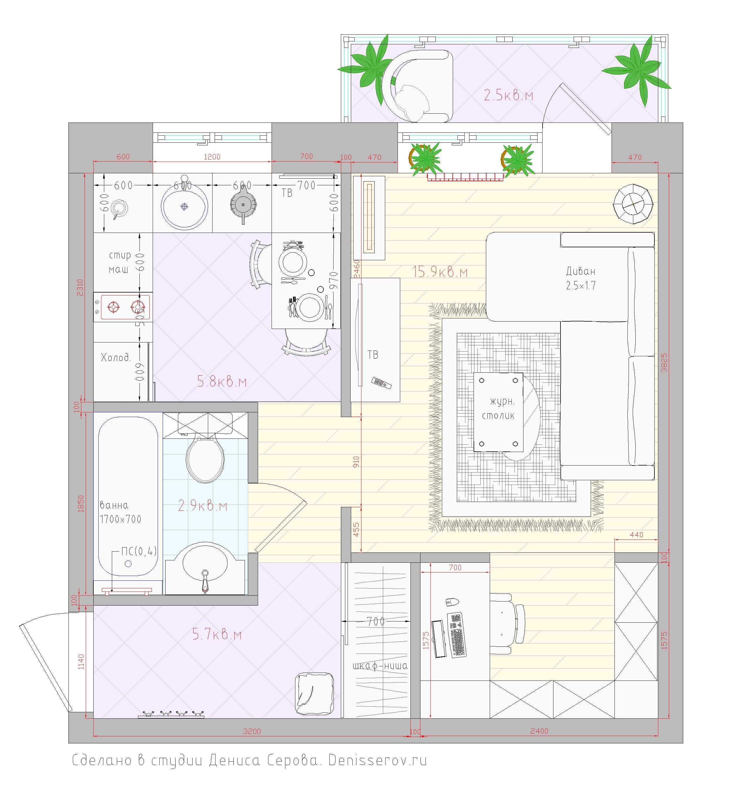 хрущевка 1 комнатная планировка