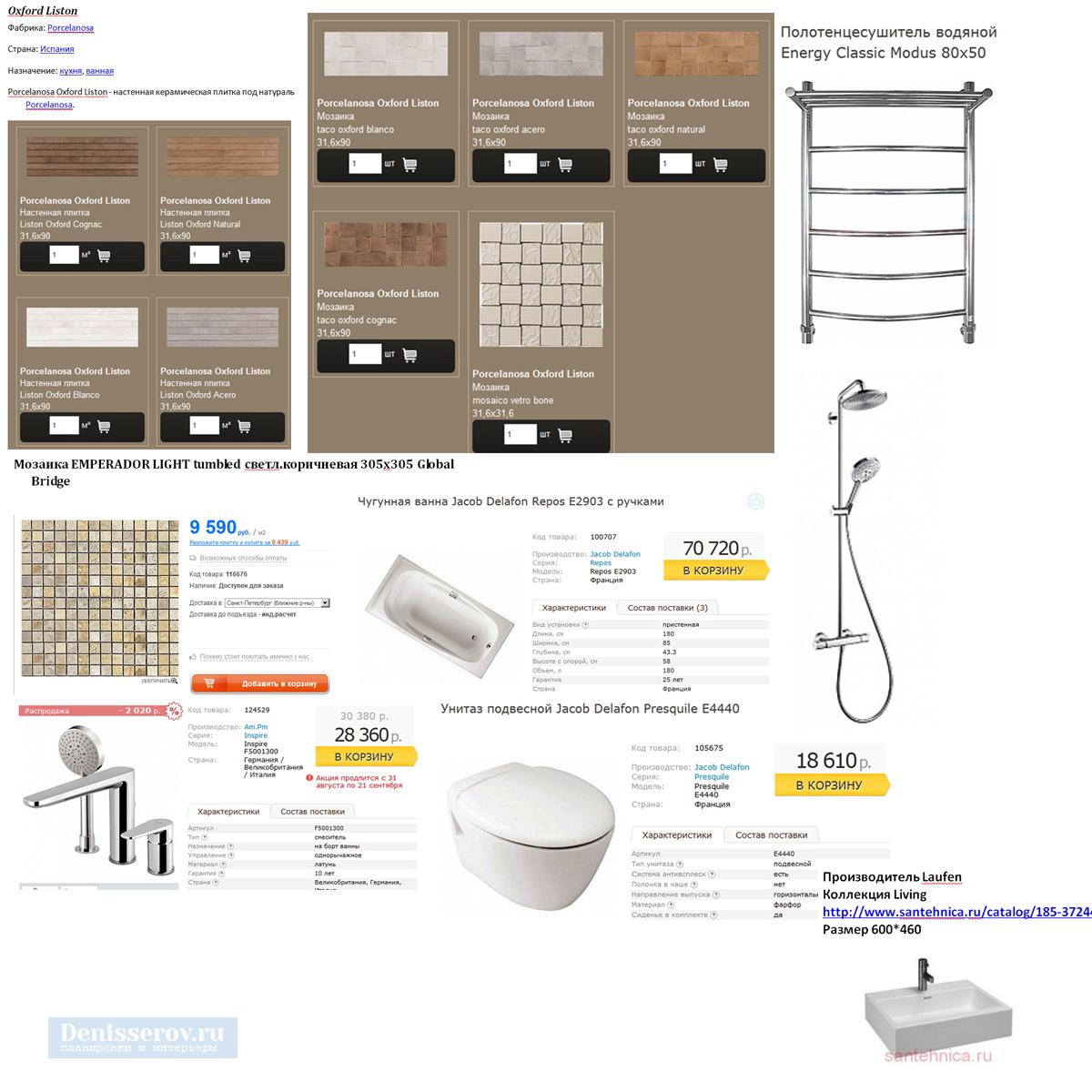 комплектация ванной комнаты 7 кв.м.
