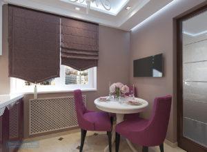 кухня 8 кв м в классическом стиле