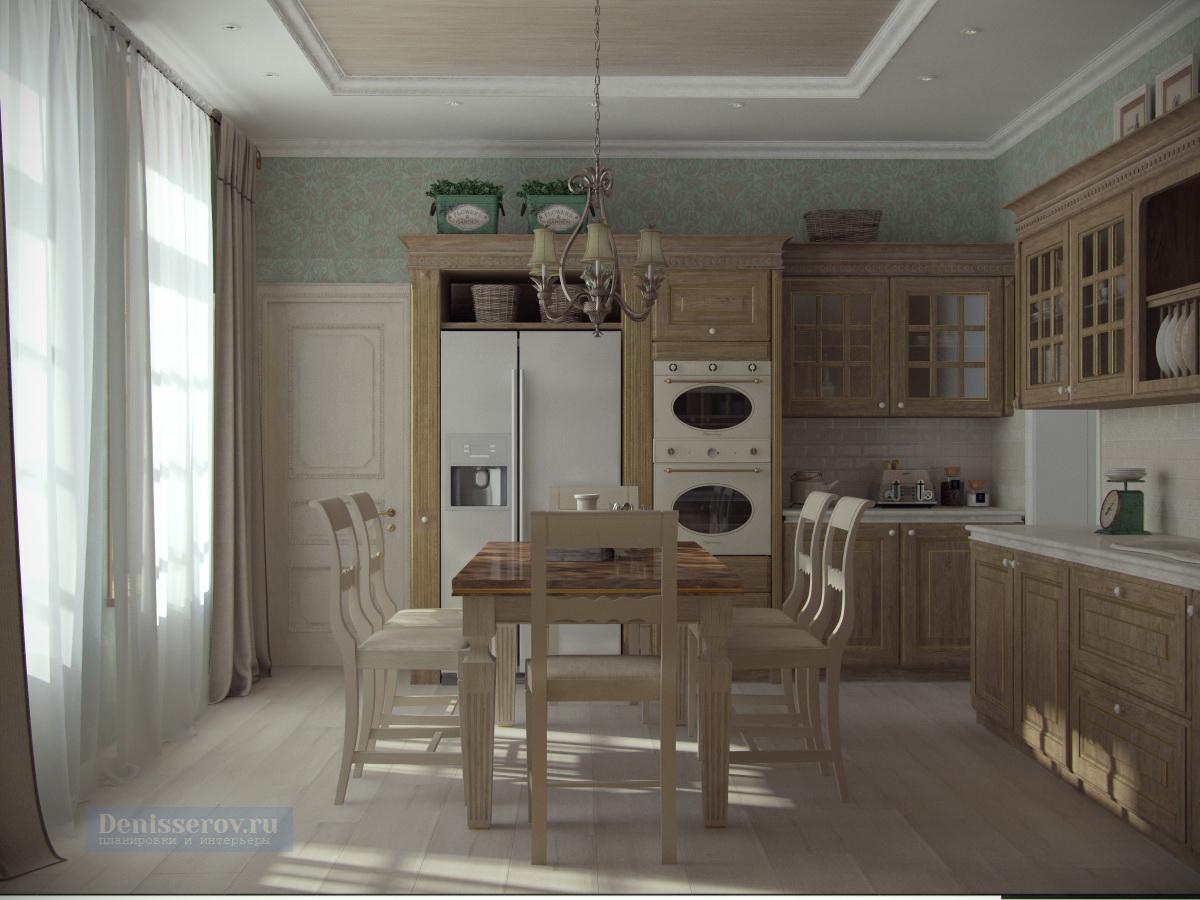 кухня в стиле прованс 15 кв.м.