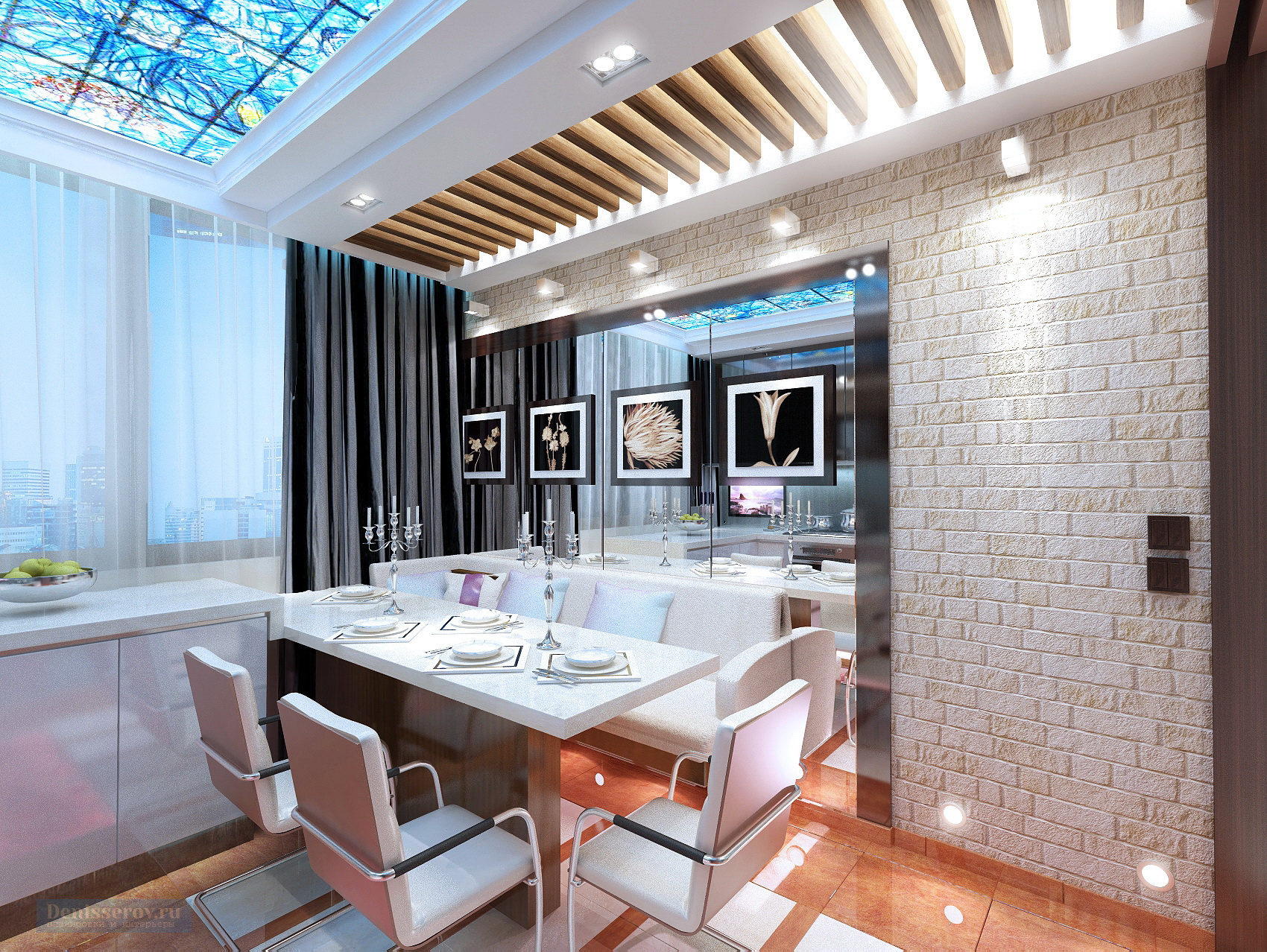 Дизайн-проект однокомнатной квартиры 48 кв.м.