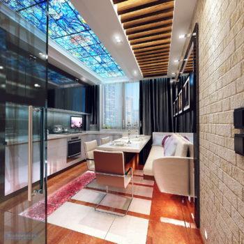 кухня в однокомнатной квартире 40 кв.м.