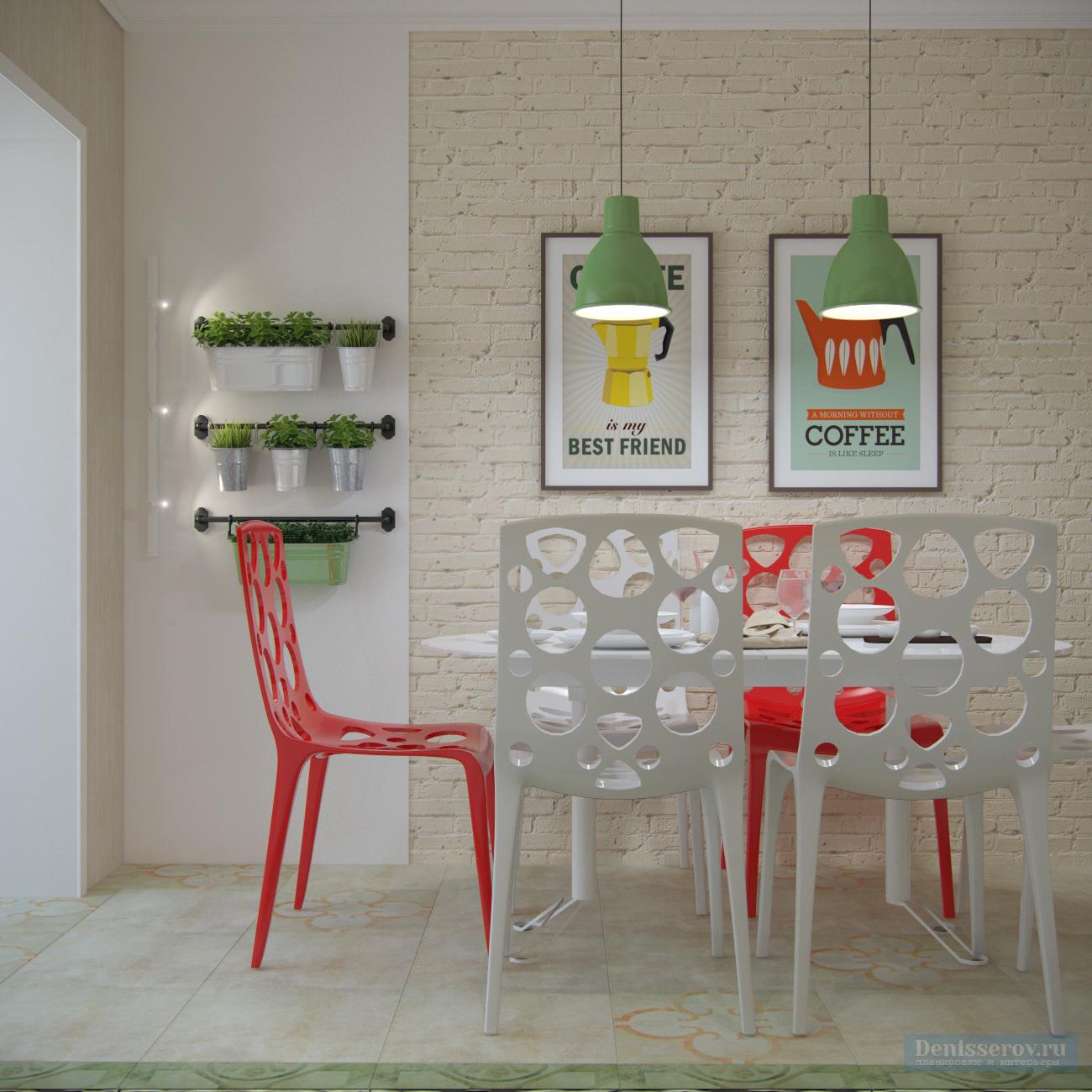 кухня 15 кв.м. в однокомнатной квартире с балконом