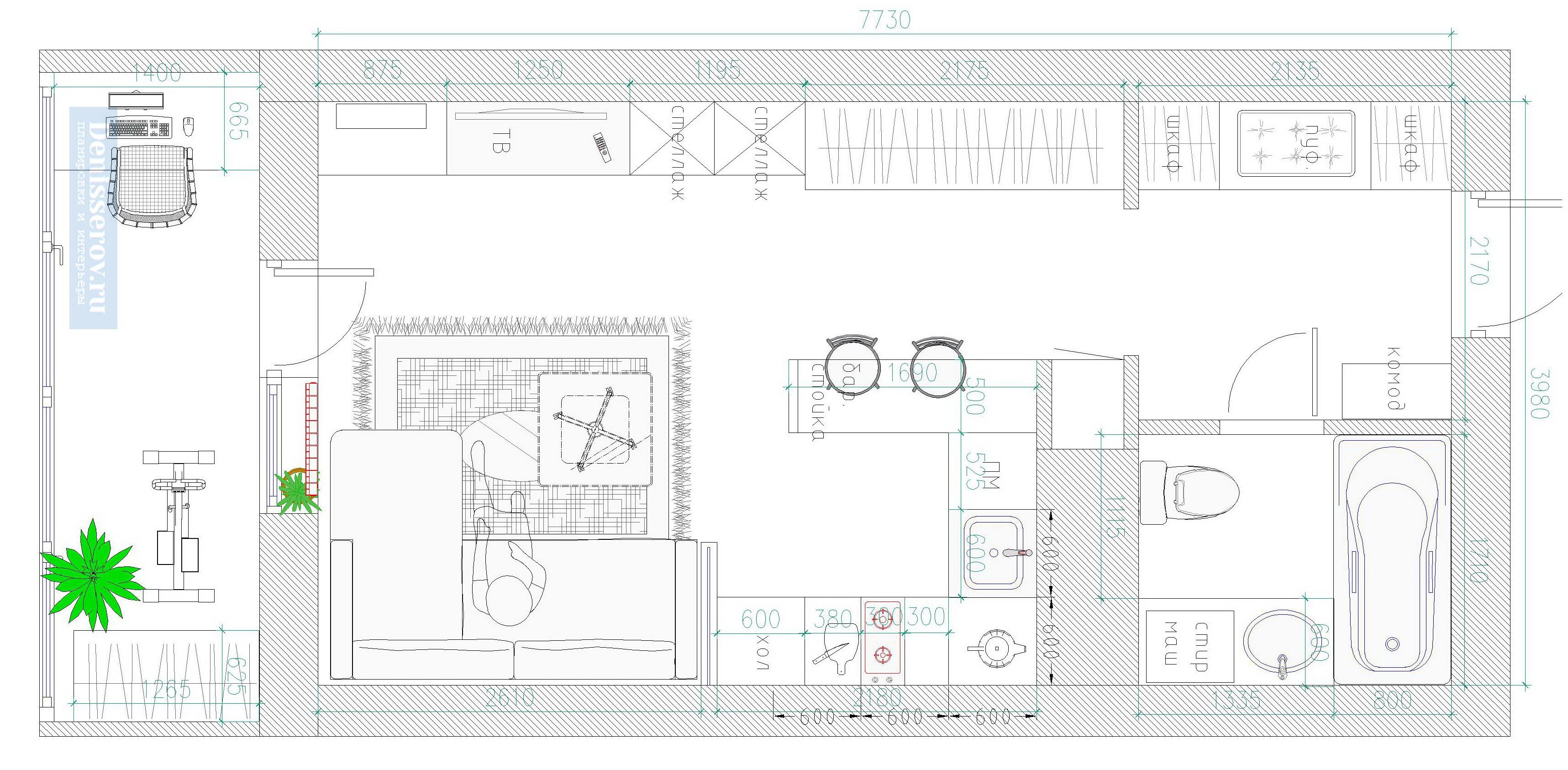 планировки квартир студий 30 кв м
