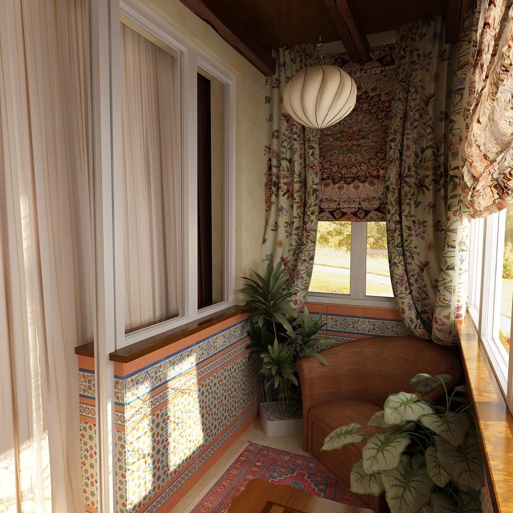 Балконы, веранды и террасы photos: лоджия в гостиной 3 кв. м.