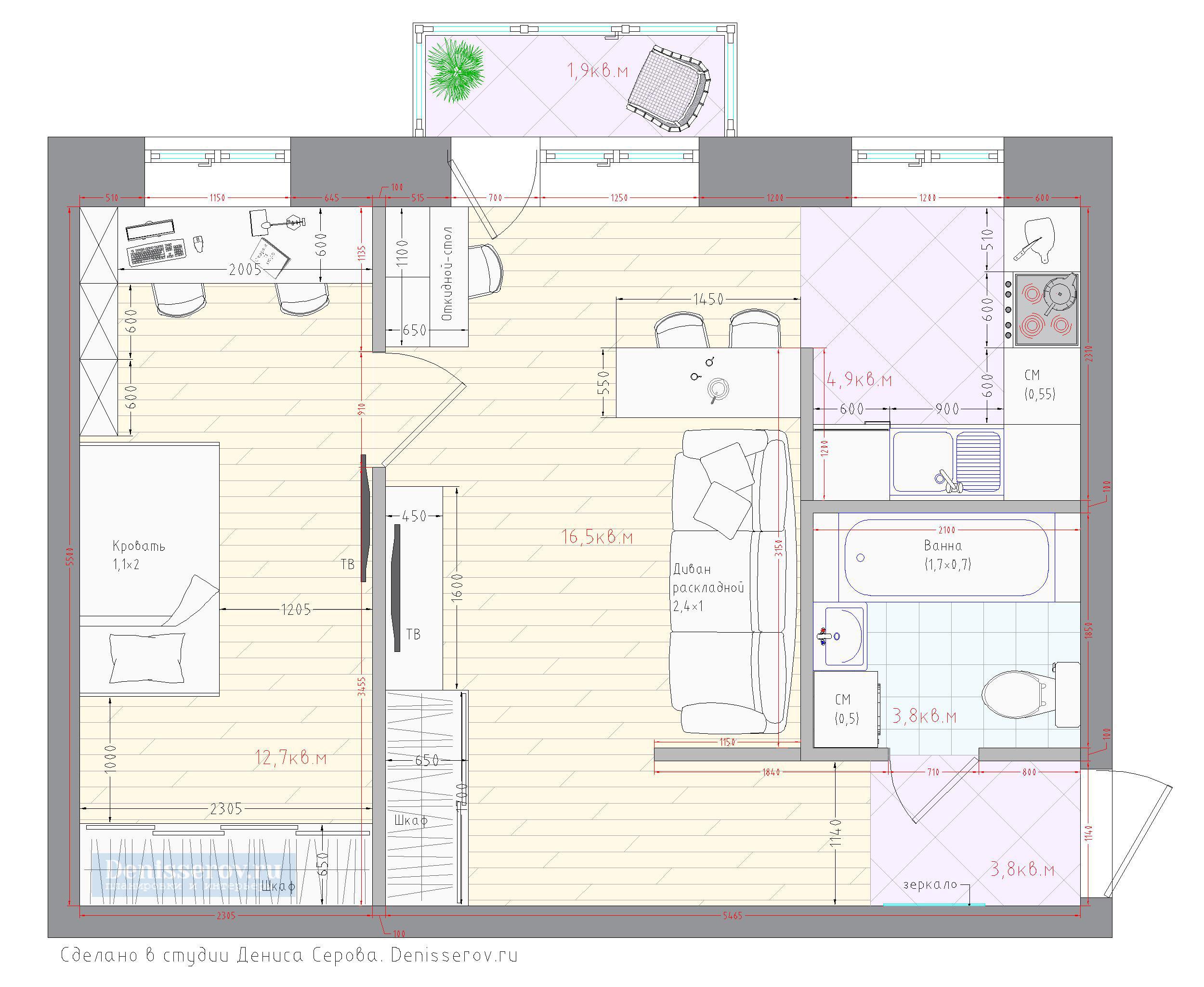планировка 2 комнатной хрущевки для семьи с ребенком