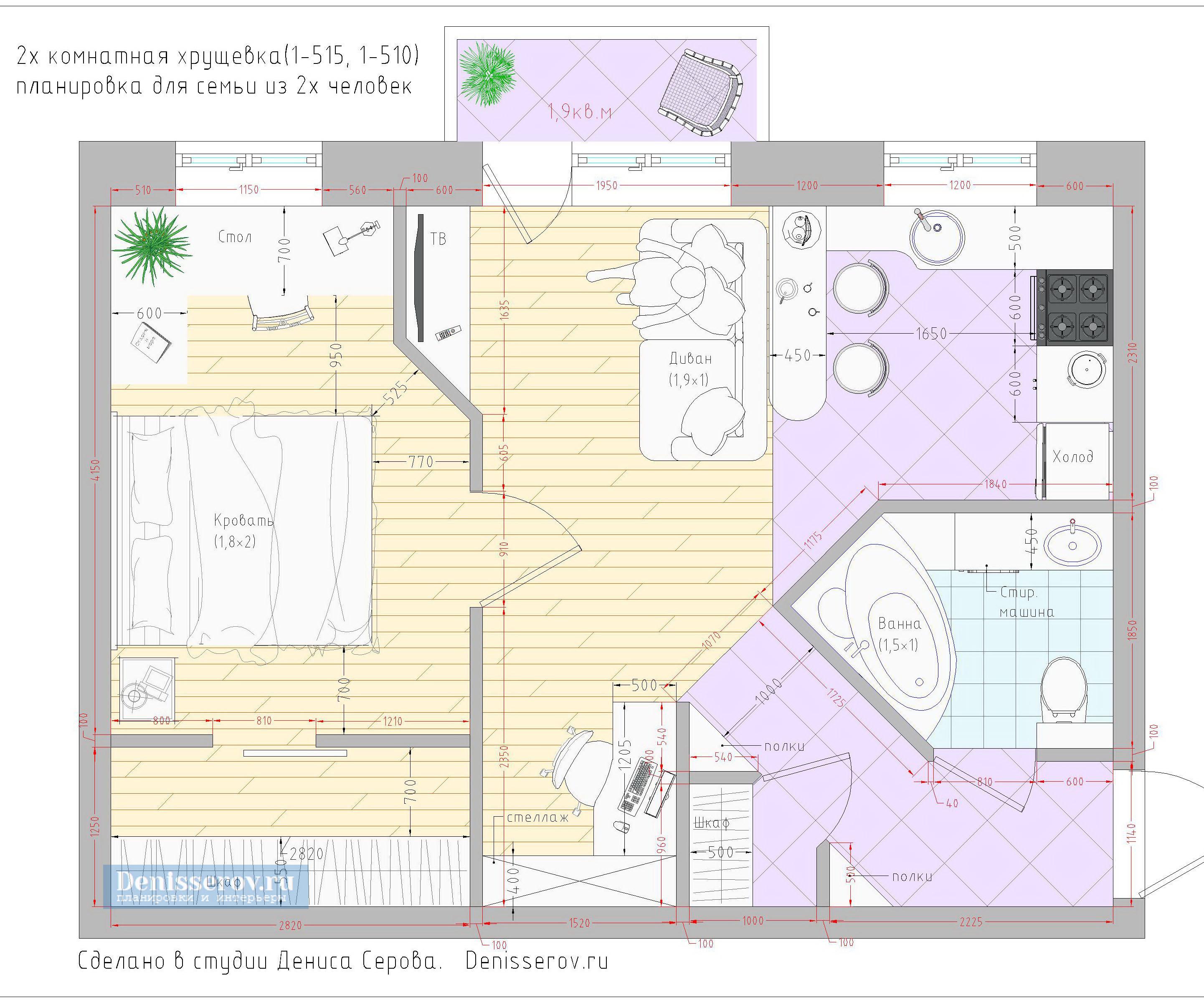 Дизайн сталинских квартир: двушка в классическом стиле