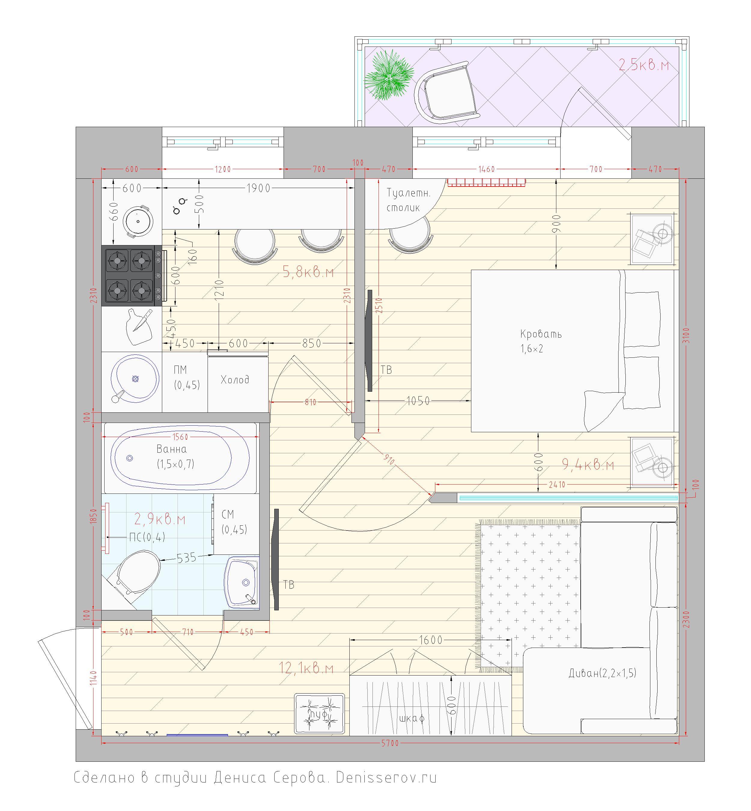 планировка маленькой кухни в хрущевке фото