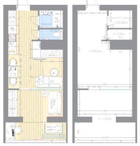 планировка квартиры студии 30 кв.м.