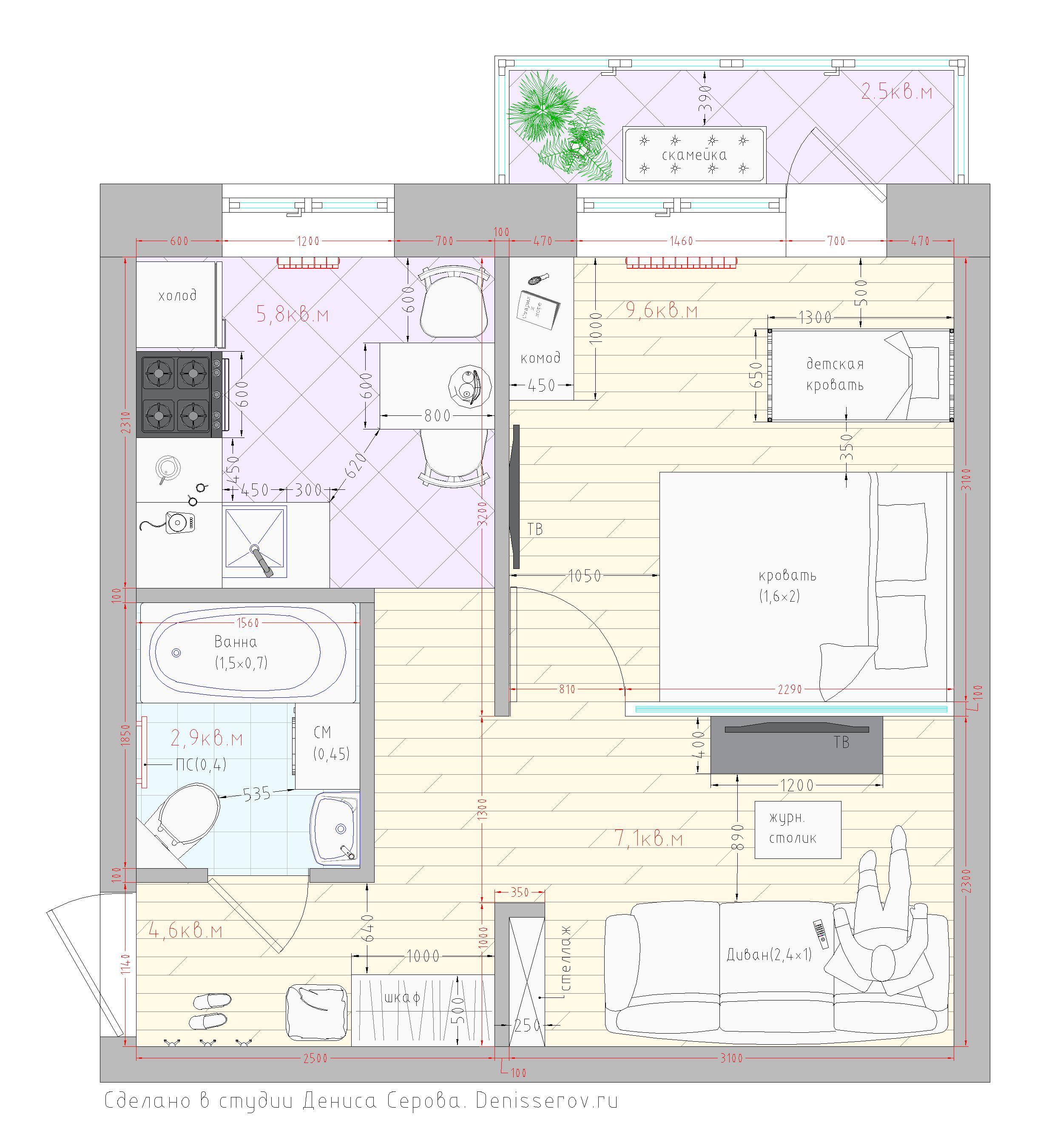 Перепланировка в домах серии И209а - Форум зданияру