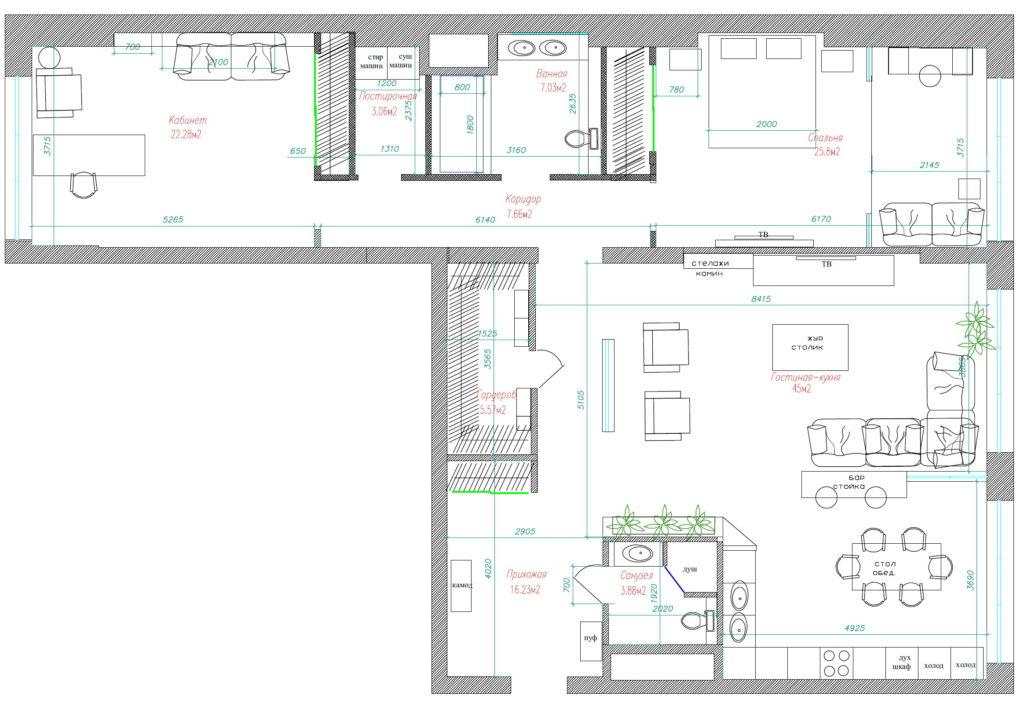 планировка 120 кв.м трехкомнатная квартира