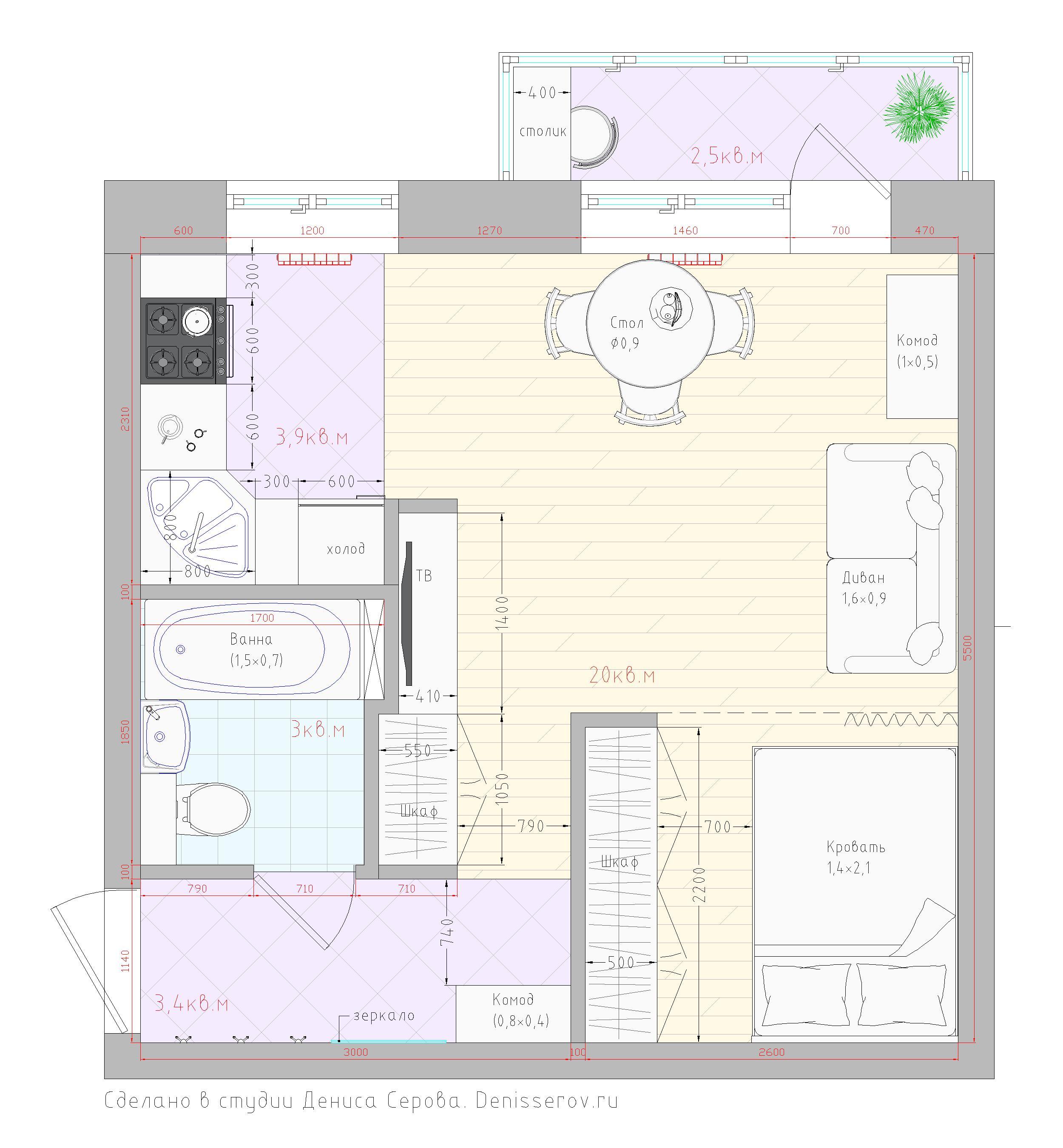 планировка хрущевки 1 комната