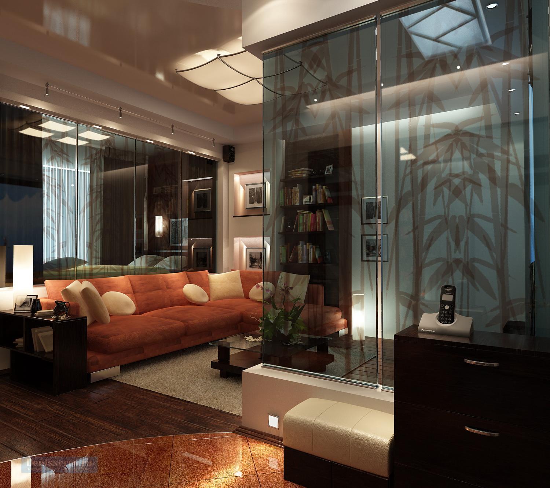Дизайн проект однокомнатной квартиры 40 кв.м.