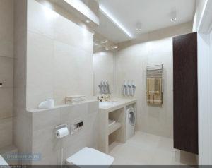 ванная комната 6 кв.м. в сером цвете