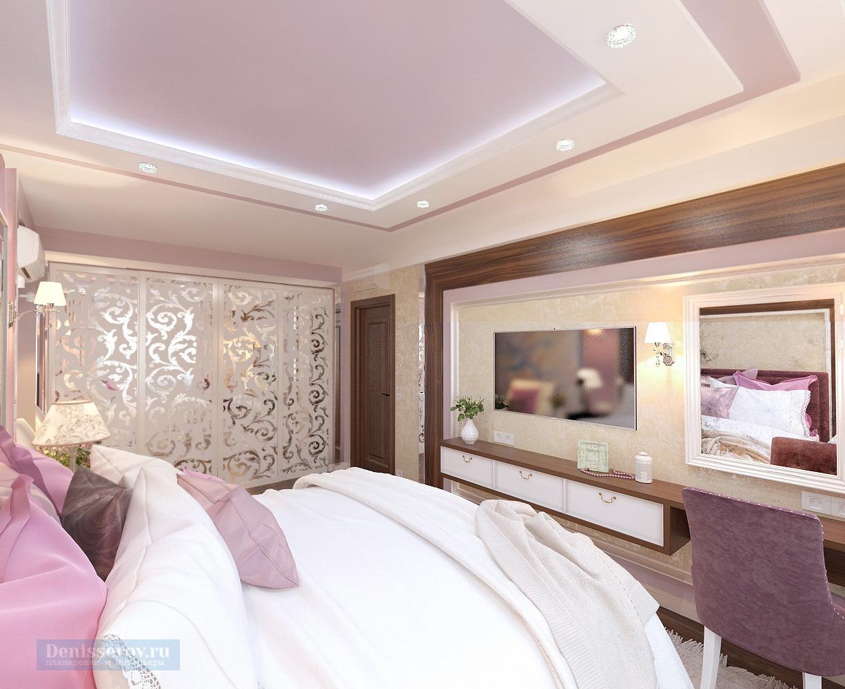 спальня 15 кв.м. в классическом стиле