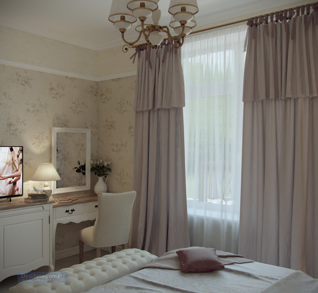 спальня в стиле прованс 16 кв.м.