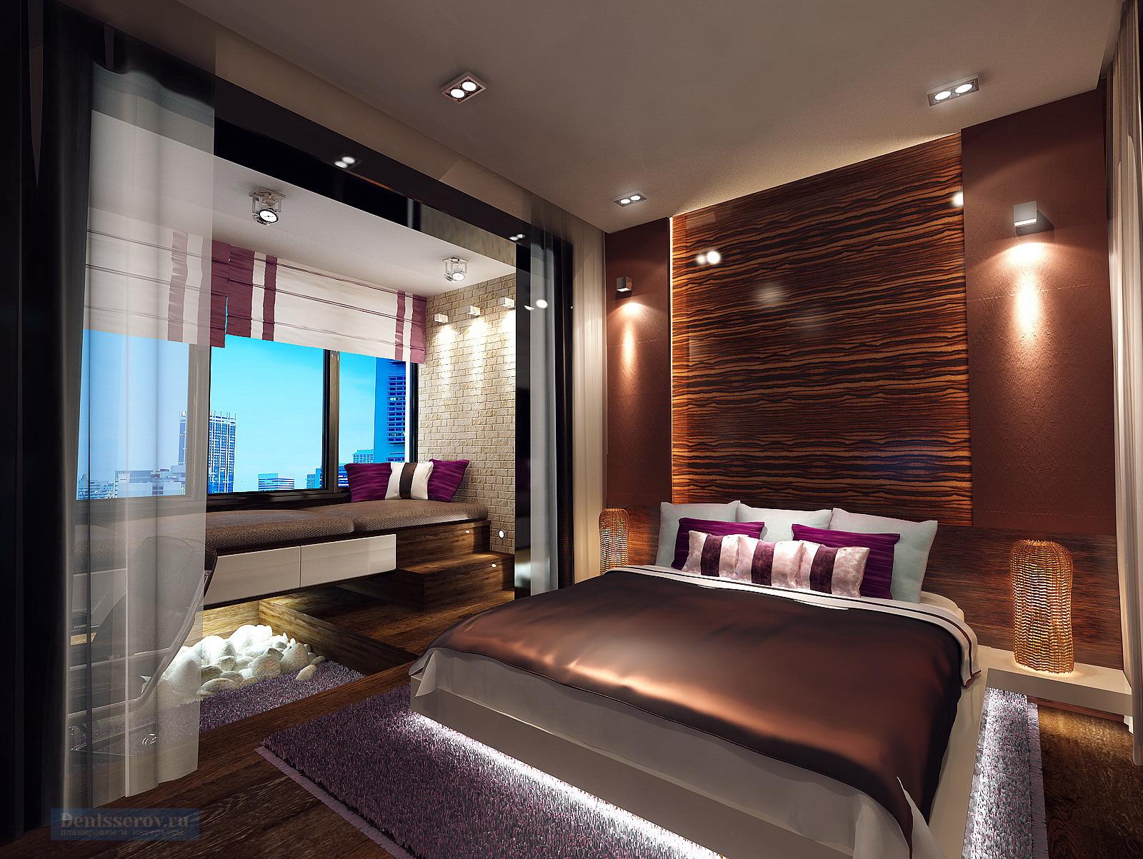 спальня в однокомнатной квартире 40 кв.м.