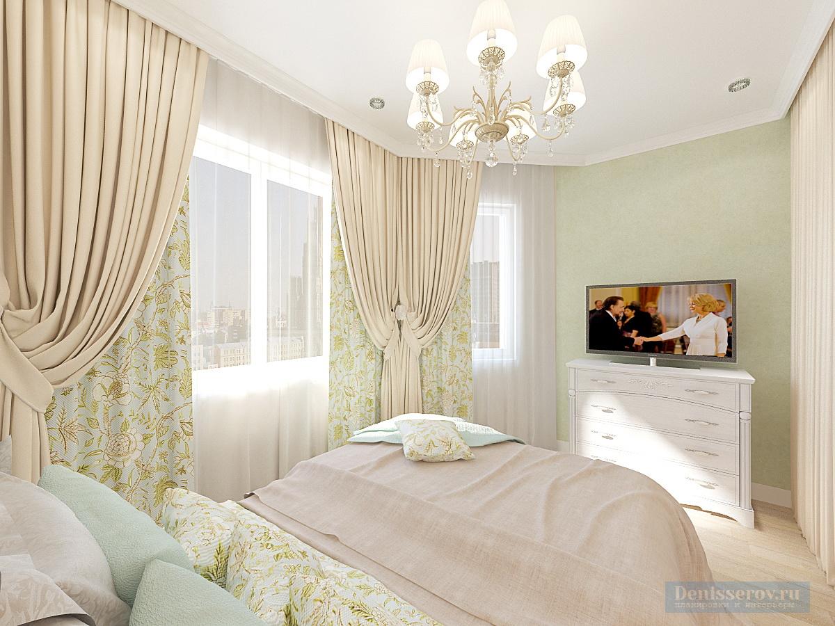 спальня в 1 комнатной квартире 45 кв.м.
