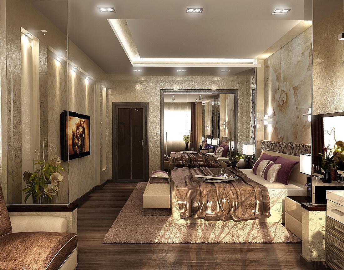 спальня 3d в классическом стиле