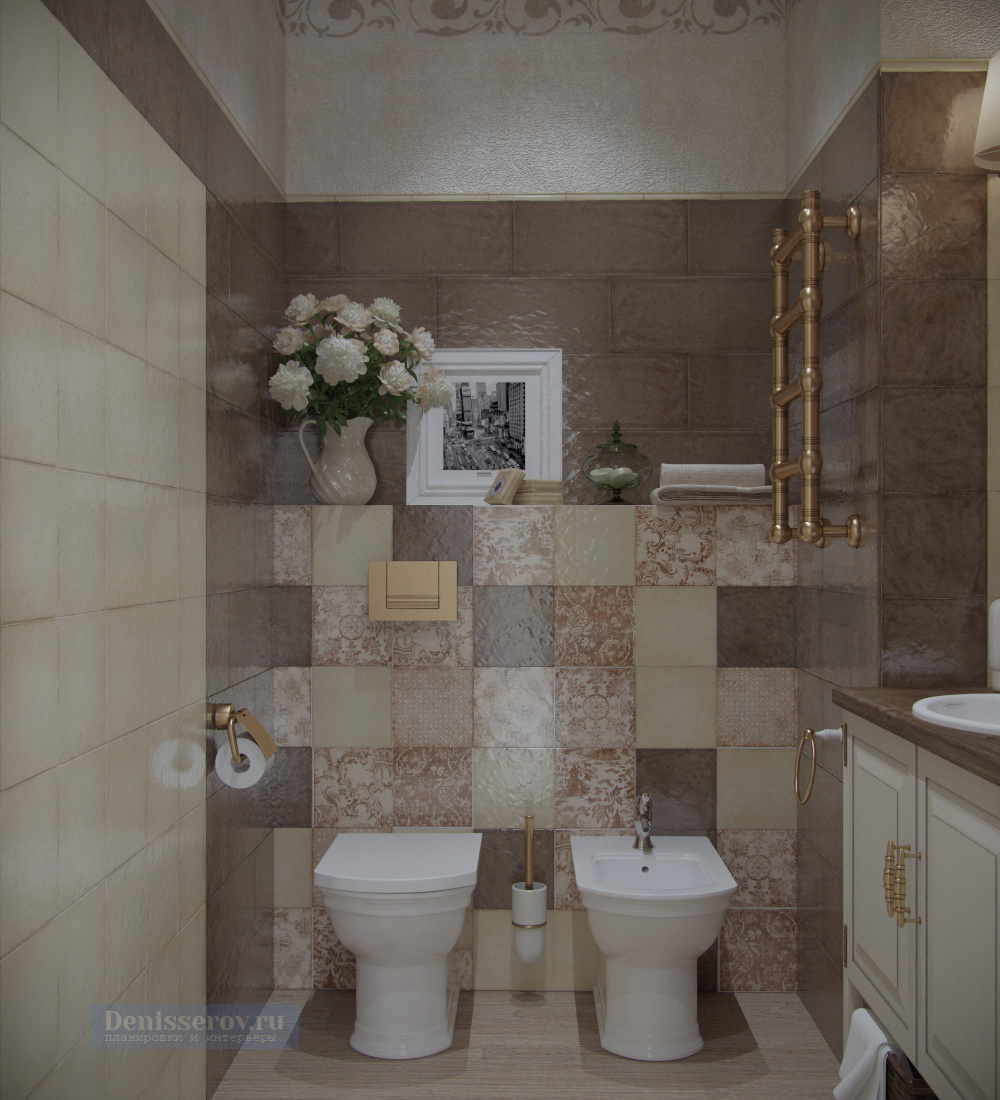 туалет в стиле прованс 3 кв.м.