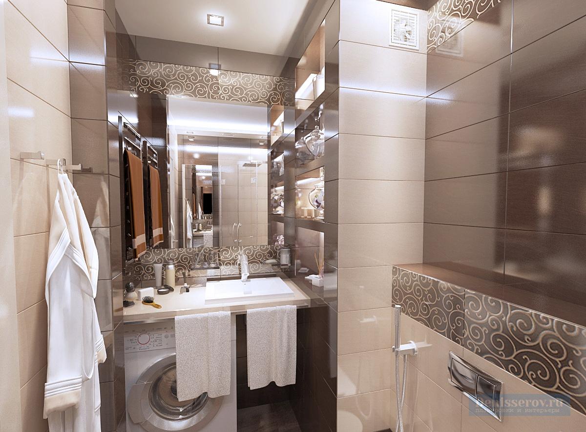 дизайн ванной комнаты 4 кв.м.