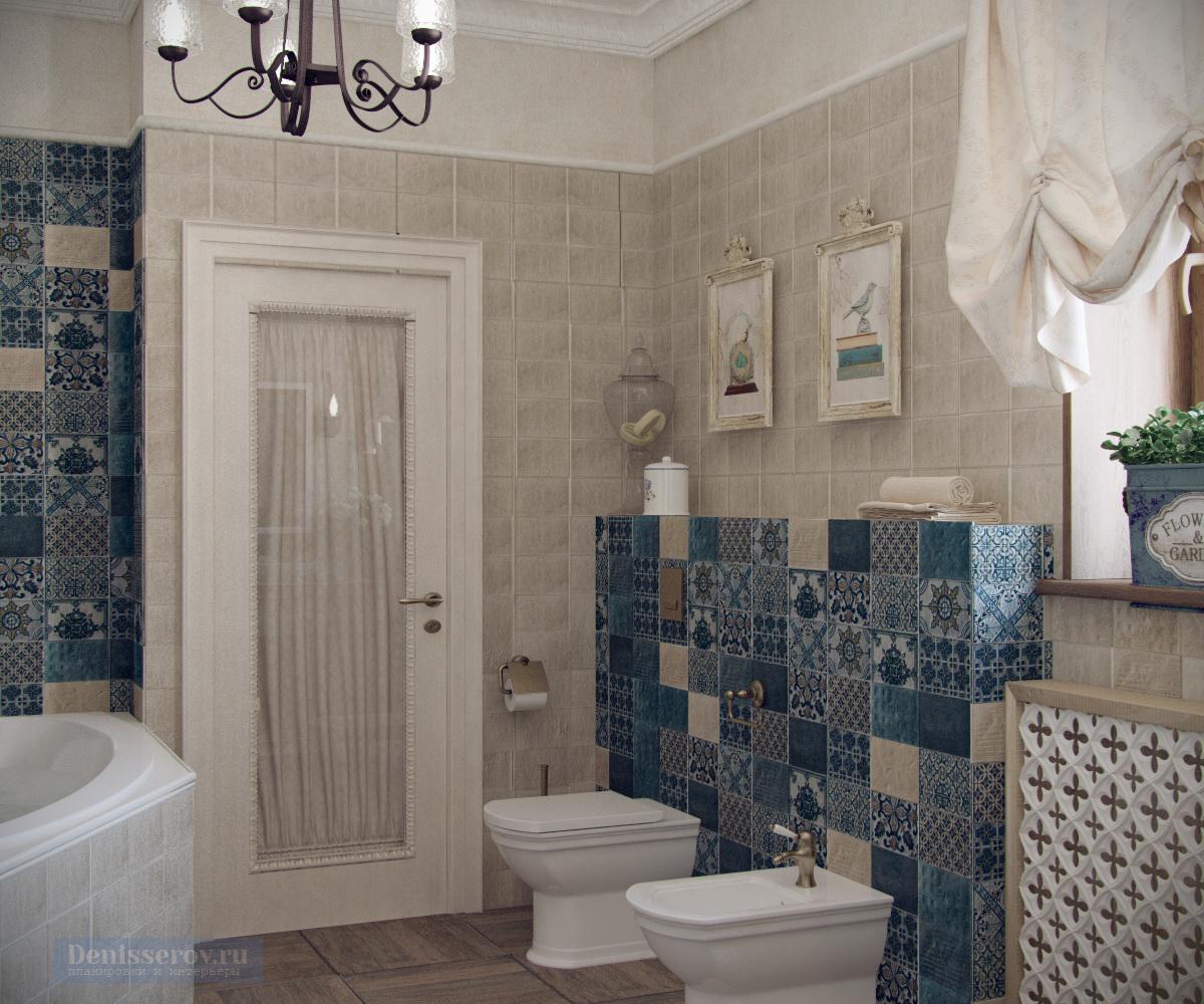 ванна 12 кв.м. в стиле прованс