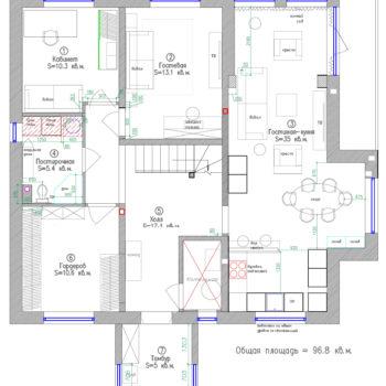 планировка 10 на 10 загородного дома в 2 этажа