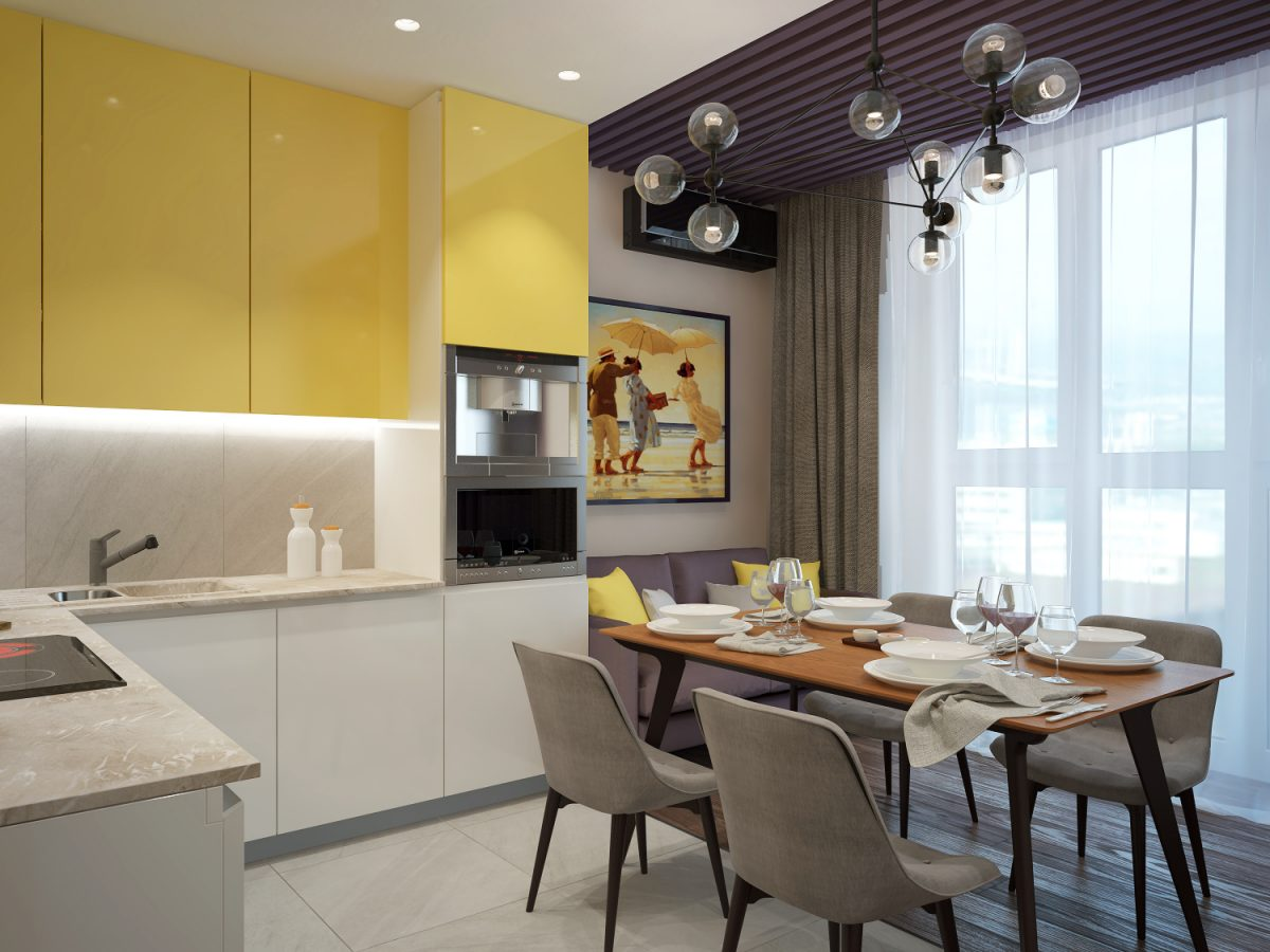 Дизайн-проект трехкомнатной квартиры 75 кв.м.