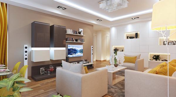 Dizajn 3 Komnatnoj Kvartiry 90 Kv M 1