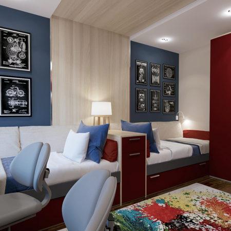 дизайн детской комнаты 14 кв.м.