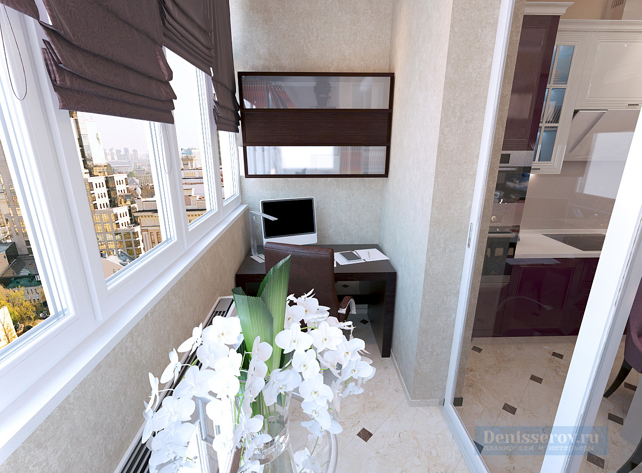 Дизайн проект трехкомнатной квартиры 80 кв.м. в москве денис.