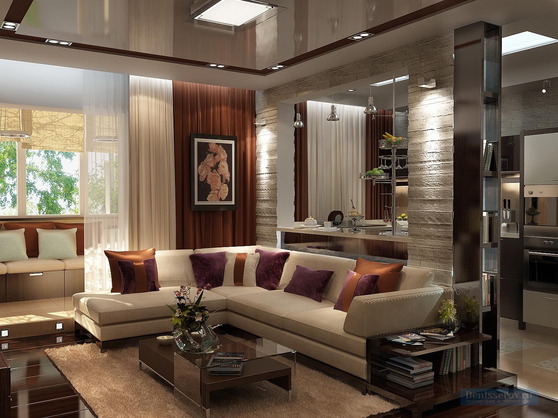 Дизайн-проект однокомнатной квартиры 55 кв.м. со спальней