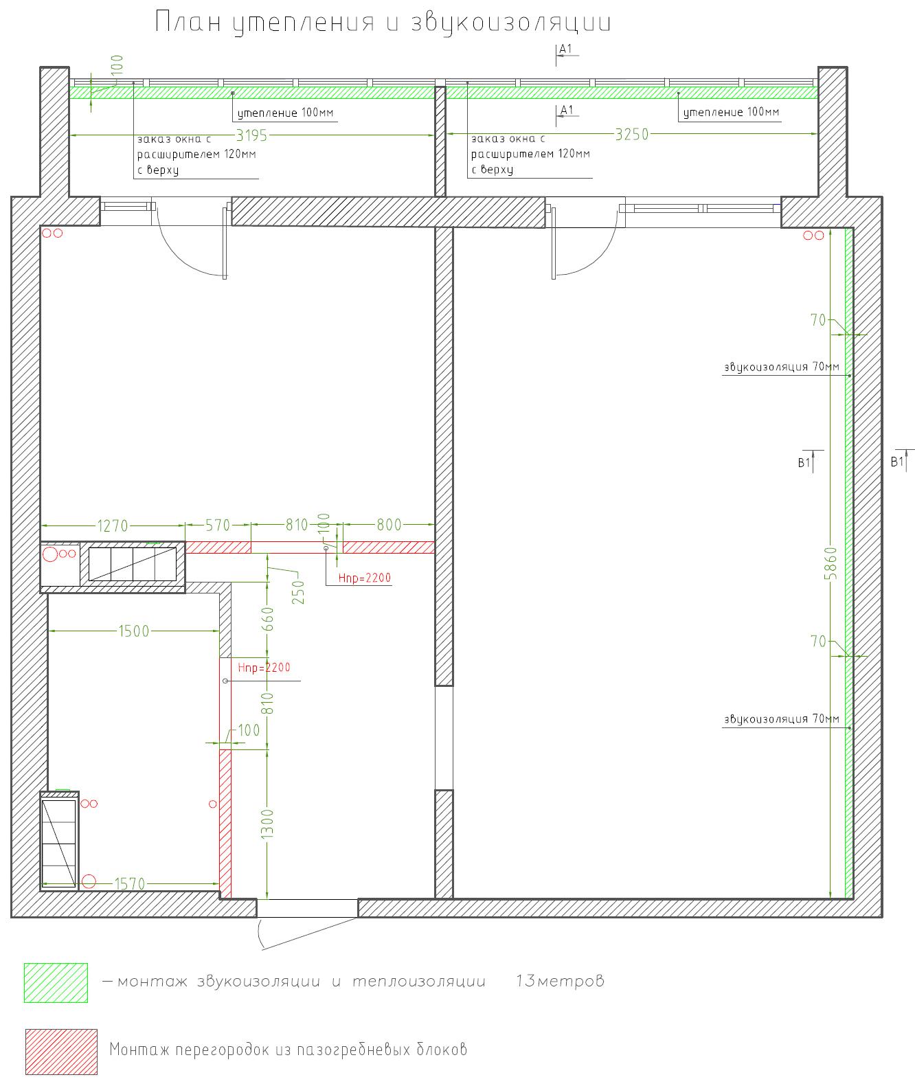 план звукоизоляции квартиры