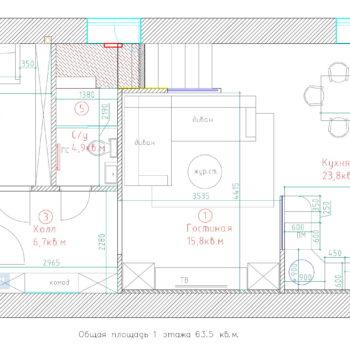 планировка дома 10 на 12