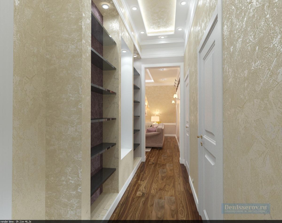 Dizajn-koridora-v-klassicheskom-stile-1