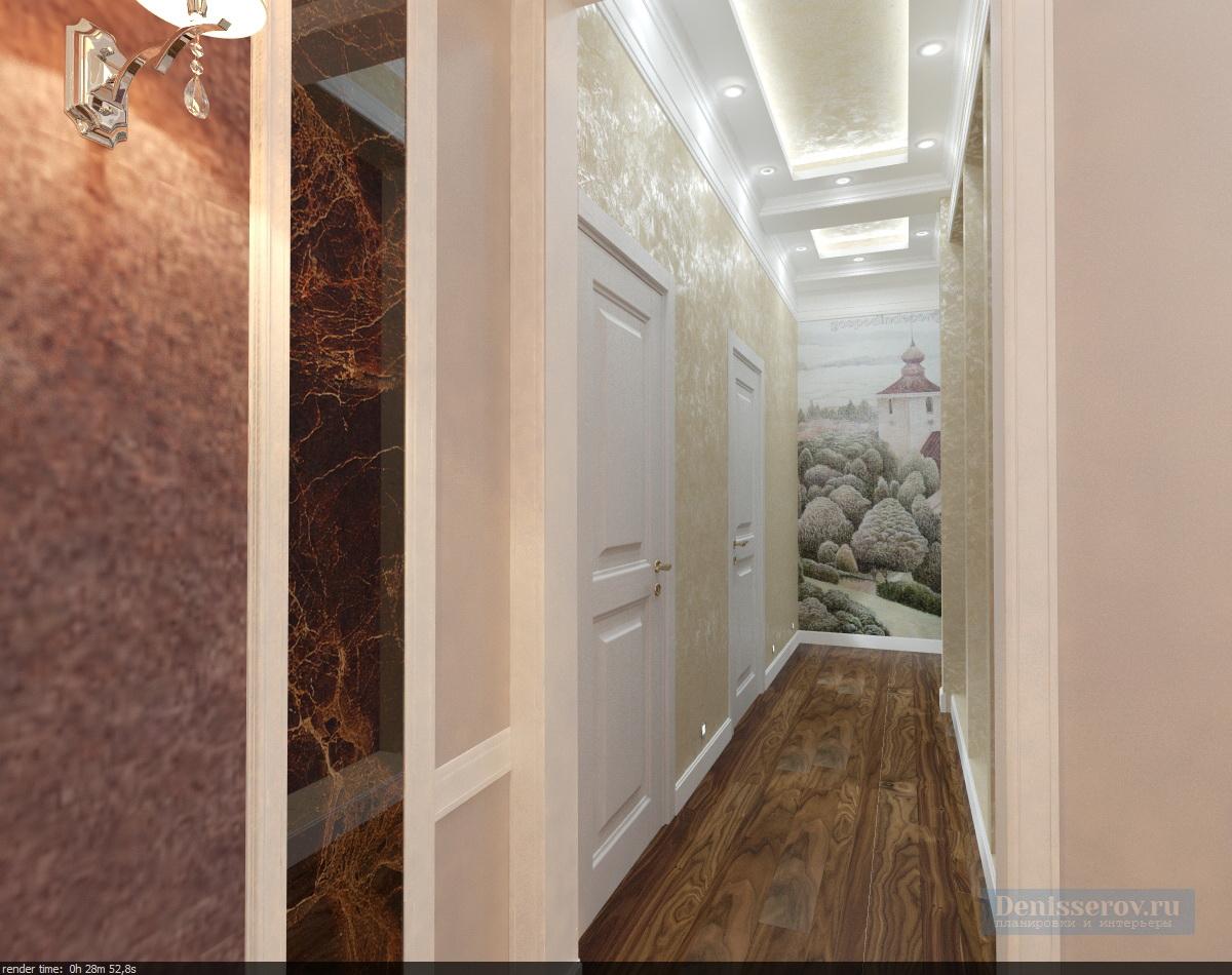 Dizajn-koridora-v-klassicheskom-stile-2
